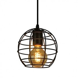 Globe Shape Europe Style Vintage Chandeliers for Dining Room, Black Pendant Light