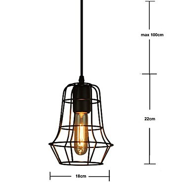 Stylish Europe Style Vintage Chandeliers for Dining Room, Black Pendant Light