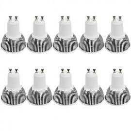 3W GU10 LED Spotlight MR16 1 COB 380LM lm Warm White / Cool White Dimmable / Decorative AC 100-240 / AC 110-130 V 10 pcs