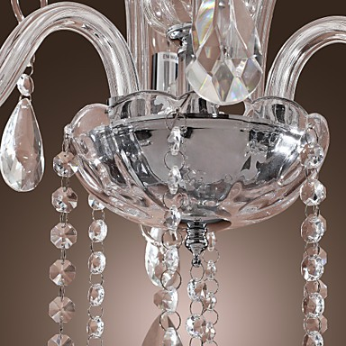 Max 40W Rustic/Lodge Crystal Others Crystal Chandeliers Living Room