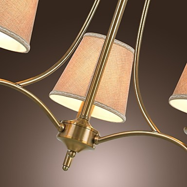 40W Modern/Contemporary / Traditional/Classic / Rustic/Lodge / Vintage / Island Brass Metal ChandeliersLiving Room / Bedroom / Dining
