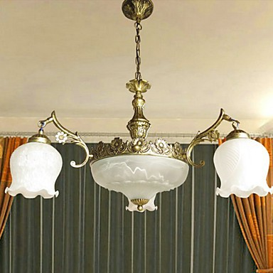 Max 60W Traditional/Classic Painting Chandeliers Living Room / Bedroom / Dining Room