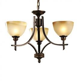 Elegant Chandelier with 3 Lights in Warm Light