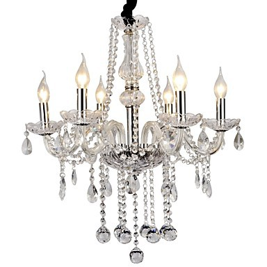 Max 40W Modern/Contemporary Crystal Electroplated Metal Chandeliers Living Room / Bedroom / Dining Room