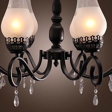 Max 60W Traditional/Classic Candle Style Painting Chandeliers Living Room / Bedroom / Dining Room