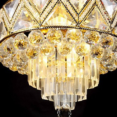 max 40w Traditional/Classic Crystal Painting Metal Chandeliers Living Room