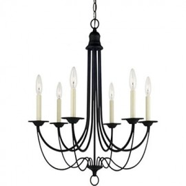 Max 60W Electroplated Metal Chandeliers Living Room / Bedroom / Dining Room