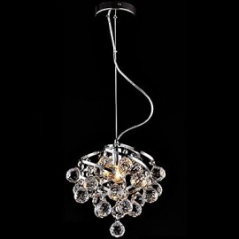 E27 5W LED Crystal Chandelier Luxurious Pendant Light for Dining-Hall Dining Room Lighting