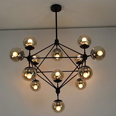 Chandeliers 15 Lights/Glass Ball Lights/ Retro Living Room / Hallway / Outdoors / Garage Metal