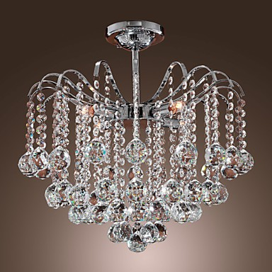 Max 40W Modern/Contemporary Crystal Painting Metal Chandeliers Living Room / Dining Room / Kitchen