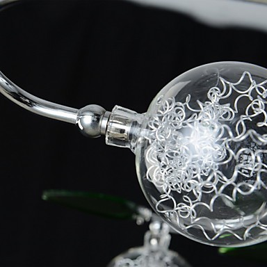 Chandelier, 6 Light, Country Aluminum Glass Chrome