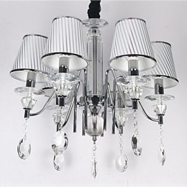 Max 60W Modern/Contemporary Crystal Electroplated Chandeliers Dining Room / Kitchen
