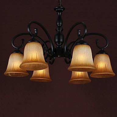 Max 60W Traditional/Classic Painting Chandeliers Living Room / Dining Room