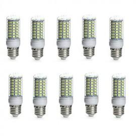 10PCS E14/G9/GU10/E26/E27/B22 69SMD 5730 850-950LM Warm White/White Decorative/Waterproof LED Corn Lights