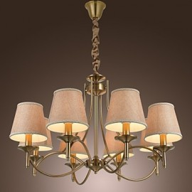 40W Modern/Contemporary / Traditional/Classic / Rustic/Lodge / Country / Island / Vintage Brass Metal ChandeliersLiving Room / Bedroom /