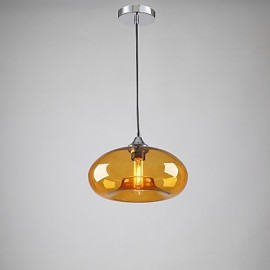 Modern Characteristic 1 Light Pendant With Transparent Glass Shade