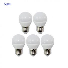 E26/E27 4W LED Globe Bulbs 4 SMD 2835 320lm Warm White / Cool White AC 85-265V Yangming 5 pcs