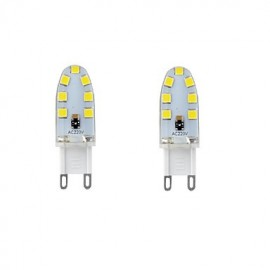2PCS G9 14LED SMD2835 4W AC220V/AC110V 300-400LM Warm White/Cool White/Natural White The Silicone LED Lights