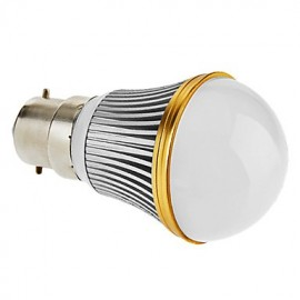B22 3 W 3 High Power LED 230 LM Warm White A Dimmable Globe Bulbs AC 220-240 V