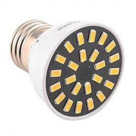 High Bright 5W E26/E27 LED Spotlight 24 SMD 5733 400-500 lm Warm White / Cool White AC 110V/ AC 220V