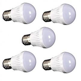 5pcs New LED Lamp E27 5W 220V 110V Real Watt LED Bulb Light SMD2835 Fast Heat Dissipation High Bright Lampada LED Lamps