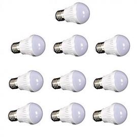 10pcs 3W E27 led lamp bulb AC220V 110V SMD2835 Globe Light Bulbs Ball Lamp Spotlight White/Warm white LED spotlight lamp for home