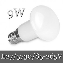 1pcs Ding Yao E27 9W 30LED SMD 5730 900LM Warm White / Cool White R63 Dimmable / Decorative Globe Bulbs AC 85-265V