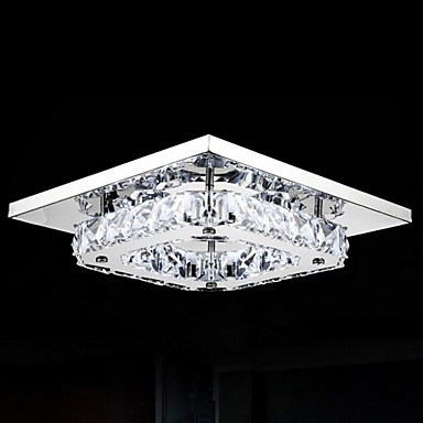 8W Modern/Contemporary LED / Bulb Included Electroplated Metal Flush Mount Bedroom