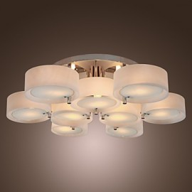 Max 60W Modern/Contemporary Chrome Metal Chandeliers / Flush Mount Living Room / Bedroom / Study Room/Office