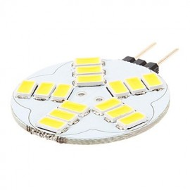 G4 3.5W 15xSMD 5730 180-320LM 3500K~6500K LED Bi-pin Lights (AC 12)