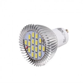 GU10 8W 650LM 6000K 16-SMD5630 White Light LED Bulb Lamp(AC220V)