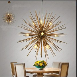 Retro Imitation Copper Creative line 12 Chandeliers