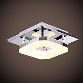 8w Led Acrylic Flush Mount, 1 light, Modern Acrylic Electroplating Stainless Steel