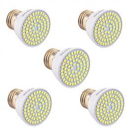 5Pcs E26/E27 GU5.3(MR16) GU10 72LED 7W LED 2835SMD 600-700Lm Warm White Cold White Natural White LED Spotlight (AC 110V/220V)