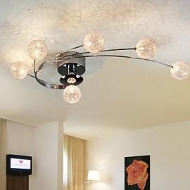 Ceiling Light Modern Living Bulbs Included 6 Lights