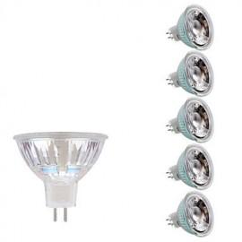 3W GU5.3 LED Spotlight MR16 1 COB 230/240 lm Warm White/Cool White DC/AC 12V 6 pcs