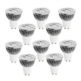4W GU10 LED Spotlight 4 High Power LED 320 lm Warm White / Cool White / Natural White Dimmable AC 220-240 V 10 pcs