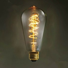 E27 40W ST64 Winding Edison Retro Decorative Light Bulb