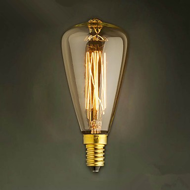 E14 40w St48 Yellow Light Bulb Edison Small Screw Cap Retro