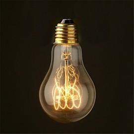40W 2700K Vintage Edison Bulb A19 Antique Filament Style Incandescent Light Bulbs Medium(AC220-240V)