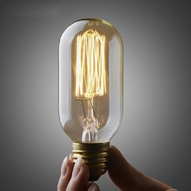 110V OR 220V Edison ST45 Bulb/ Retro Edison lamp Filament bulb/Copper E26 E27 Bulb 40W