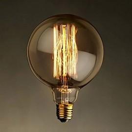 E27 40W G125 Straight Wire Large Bulb Bulb Edison Retro Decorative Light Bulbs