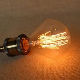 E27 40W G95 Diamond Straight Wire Edison Bulb Large Lo Bar Pendant Lamp With A Retro Light Source