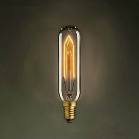 T10 E14 220V-240V 40W Tubes Creative Small Screw Edison Light Bulb