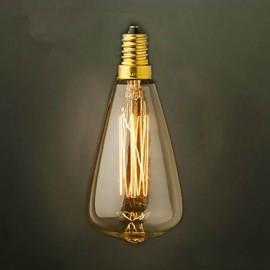 ST48 E14 220V-240V 25W Bulb Edison Screw Caps Small Yellow Retro Chandelier Light Bulb