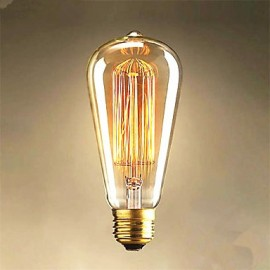 25W Edison ST64 Straight Wire light Bulbs for Sale Edison Art Decoration Light