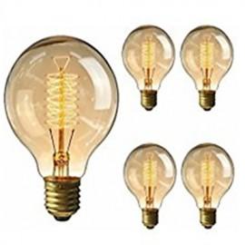 5pcs G95 Antique Retro Vintage Edison Bulbs E27 Incandescent Light Bulbs 40W Decorative Filament Bulb Edison Light 220-240V