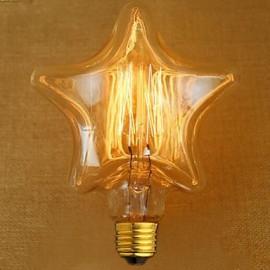 Edison Yellow Light Decoration Retro Tungsten Lamp Light Source(E27 40W)