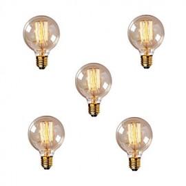 5pcs G80 Vintage Edison Bulb Incandescent Light Bulb E27 40W Light Bulb Filament Bulb 220-240V