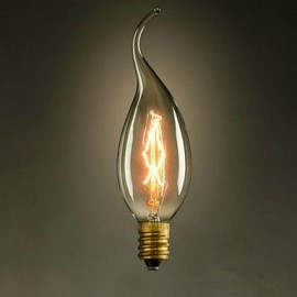 C35L Pull The End Of The Yellow E14 220V-240V 40W Small Edison Screw Light Bulb